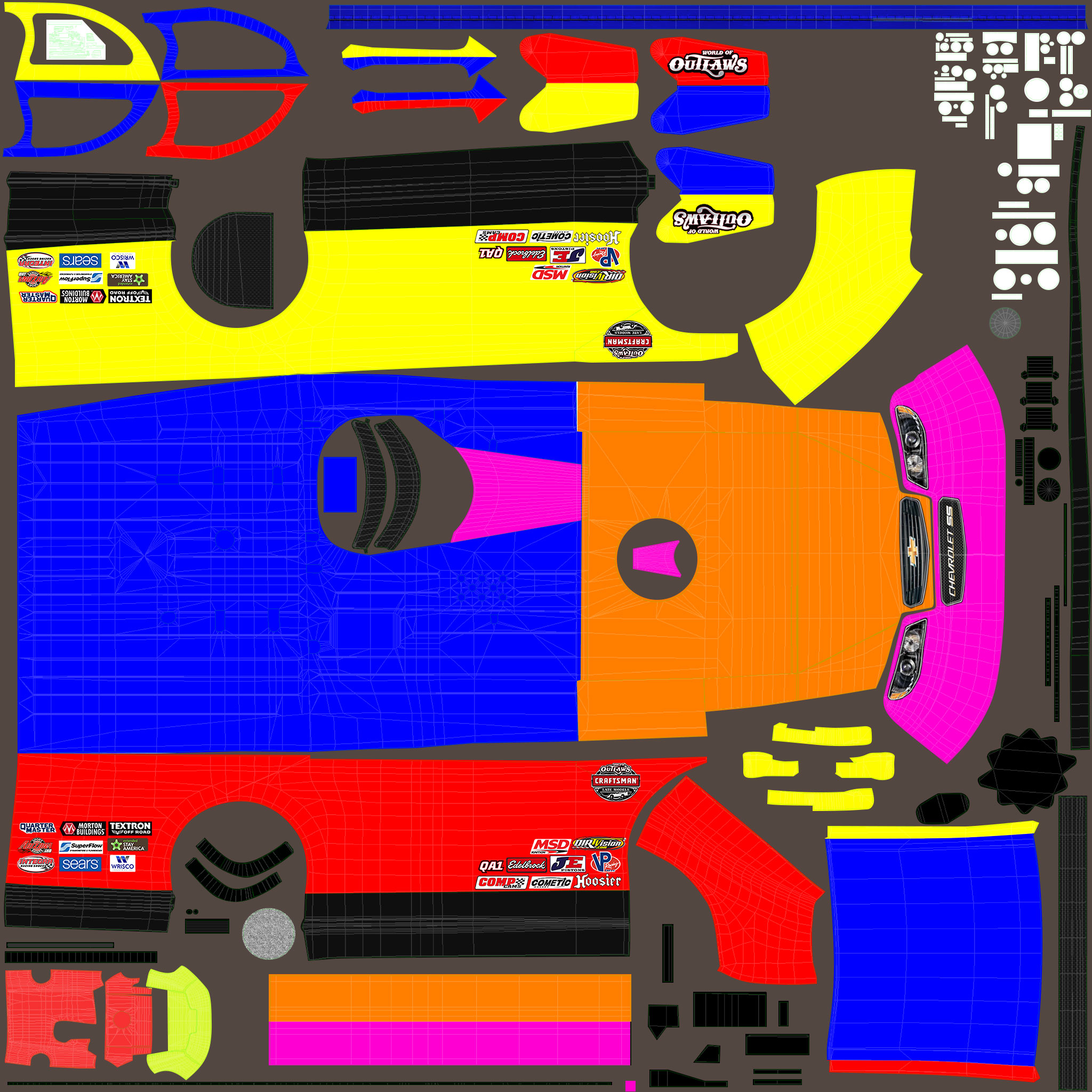 Iracing Dirt Late Model Template