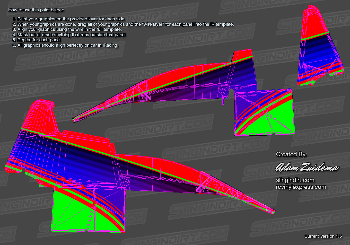 This File Was Created To Help Align The Paint Layers Across Side Of Iracing Dirt Sprint Car There Are Instructions Included In On How